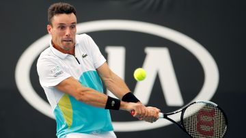 Roberto Bautista, en acción en el Open de Australia