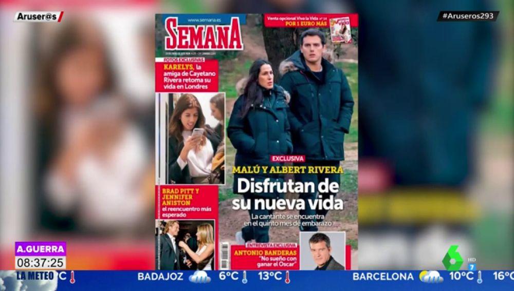 Malú y Albert Rivera disfrutan de un romántico paseo a la espera de ser padres