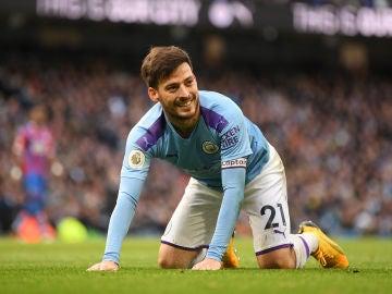 David Silva, en un partido de la Premier League.