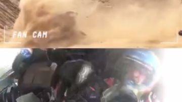 Fernando Alonso sufre un accidente en el Dakar.
