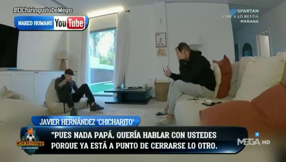 Chicharito Hernández se derrumba al decir a su familia que se va a Los Ángeles