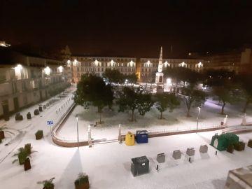 Málaga se cubre de blanco tras la fuerte granizada