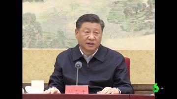 El presidente de China, Xi Jinping, en rueda de prensa