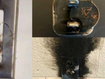 Imagen compartida en la cuenta oficial de Twitter  los bomberos de Washington de las consecuencias que tiene este reto.