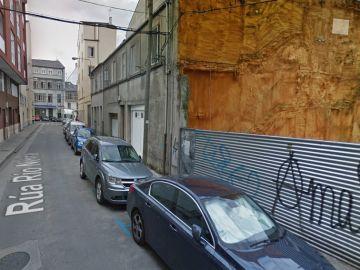 Vista general de la calle Río Neira, en Lugo, donde ocurrió el robo.