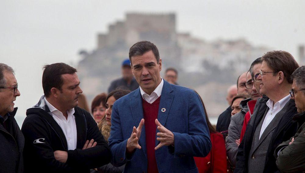 Imagen de Pedro Sánchez en Peñíscola