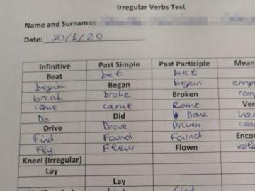 La pregunta del examen de inglés que se ha viralizado en redes