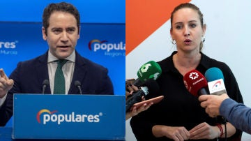 Teodoro García Egea y Melisa Rodríguez
