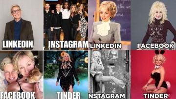 Imágenes del 'Dolly Parton Challenge'.