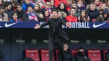 Simeone, en el partido contra el Leganés.