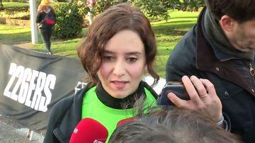 Isabel Díaz Ayuso ante los medios