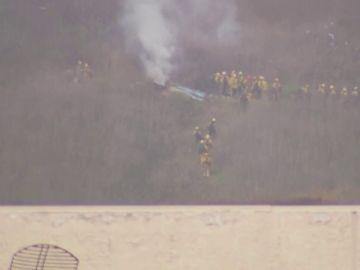 Lugar del accidente de helicóptero de Kobe Bryant