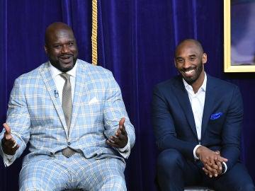 Shaquille O'Neal, junto a Kobe Bryant