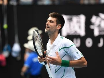 Novak Djokovic, en el Open de Australia.
