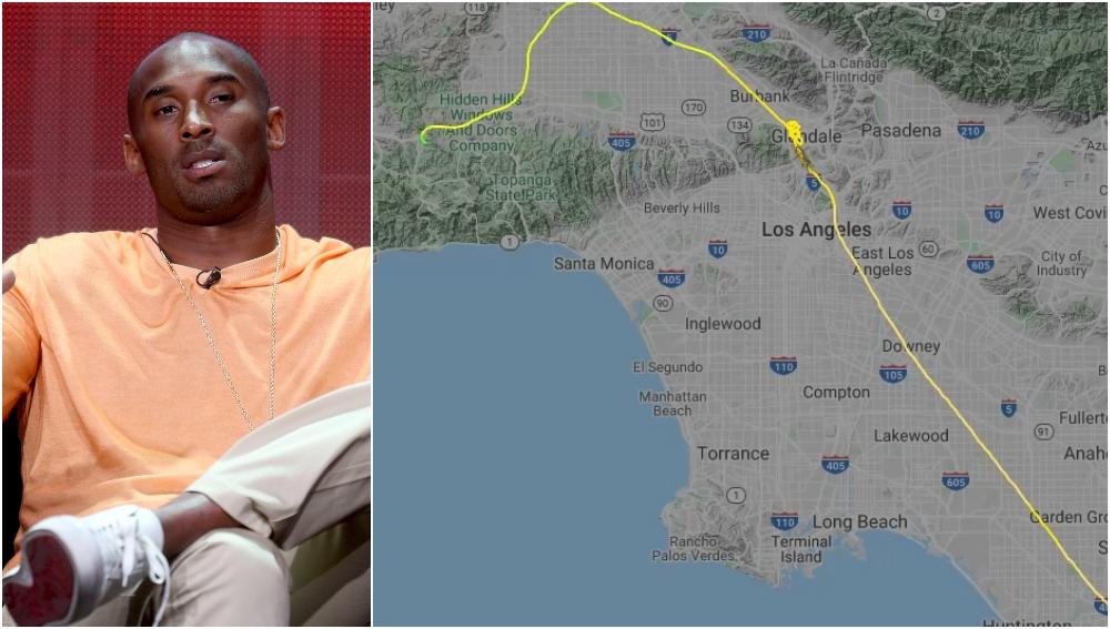 La trayectoria del vuelo de Kobe Bryant