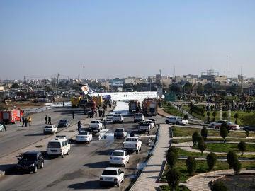 Accidente de avión en Irán