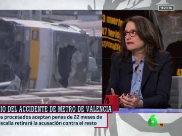 """Mónica Oltra, sobre el accidente del Metro de Valencia: """"Es una herida abierta en la Comunitat Valenciana"""""""