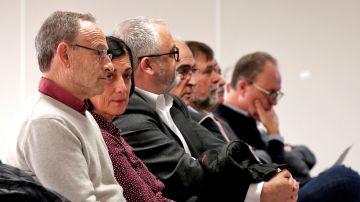 Los ocho exdirectivos de Ferrocarrils de la Generalitat en el banquillo