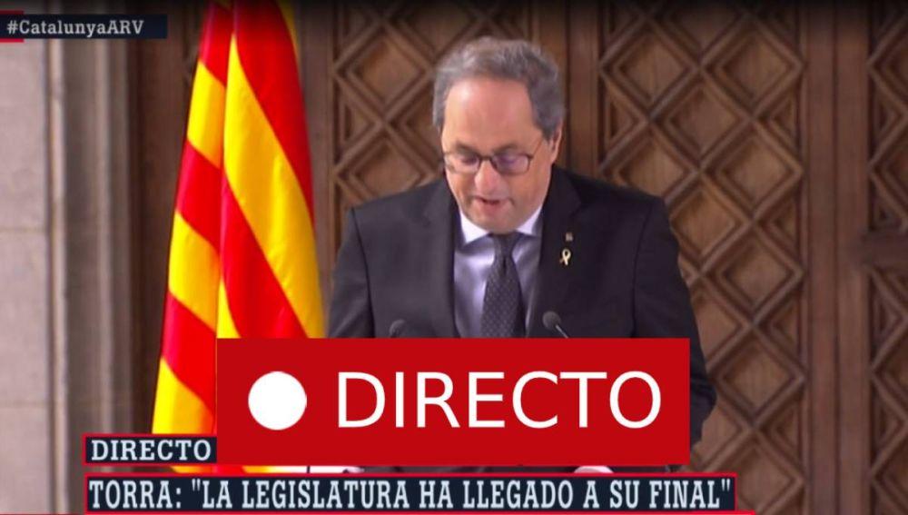 Elecciones Cataluña | Torra convocará elecciones tras la aprobación de presupuestos, en directo