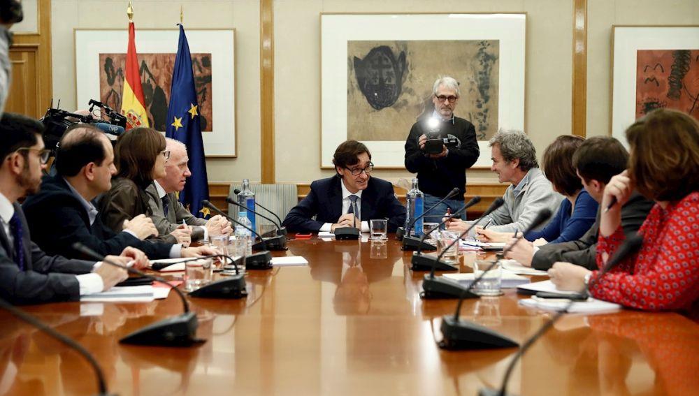 Salvador Illa preside una nueva reunión del comité de seguimiento del coronovirus