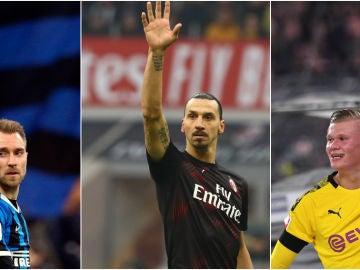 Eriksen, Ibrahimovic y Haland