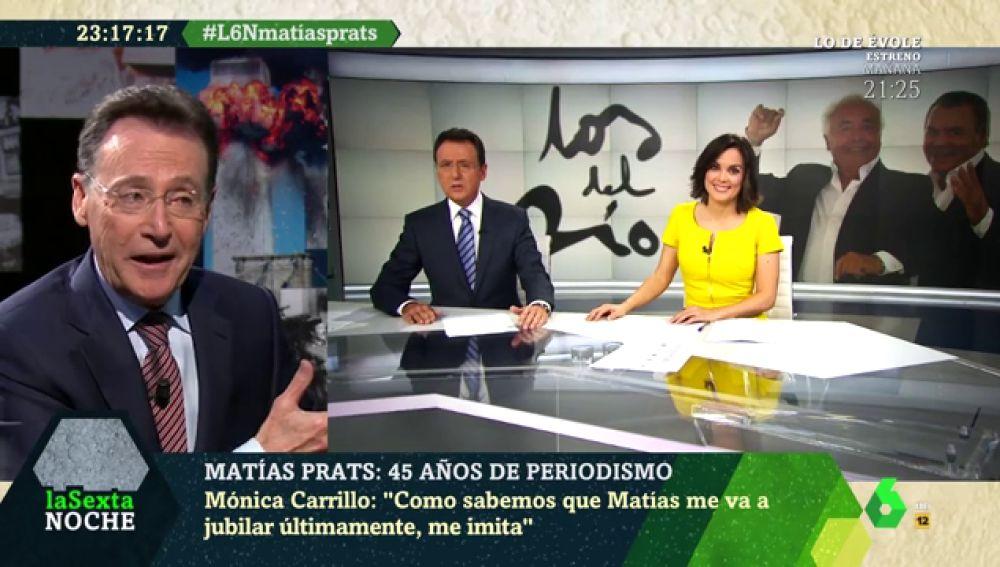 La desternillante recreación de Matías Prats del día en que jubile a Mónica Carrillo en directo