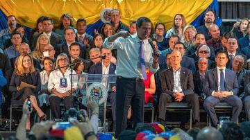 Juan Guaidó en un acto en Miami