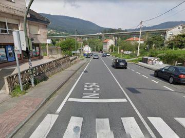 Vista general de la zona donde el hombre perdió el sobre, en Santa Cristina de Cobres.