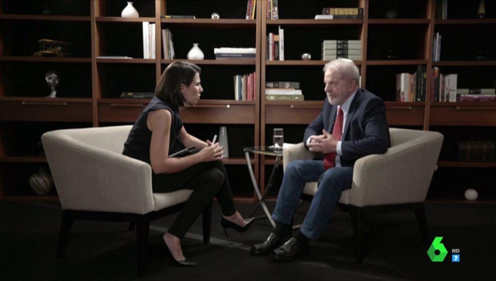 """Ana Pastor entrevista a Lula da Silva en El Objetivo: """"Hubo una conspiración enter justicia y empresa para condenarme"""""""