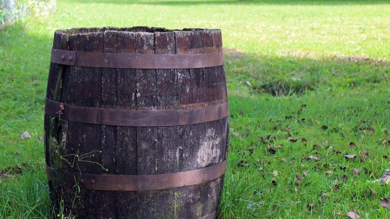 Barril de madera.