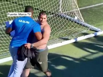 Imagen del hombre que intentó agredir a un árbitro en un partido de benjamines en Canarias