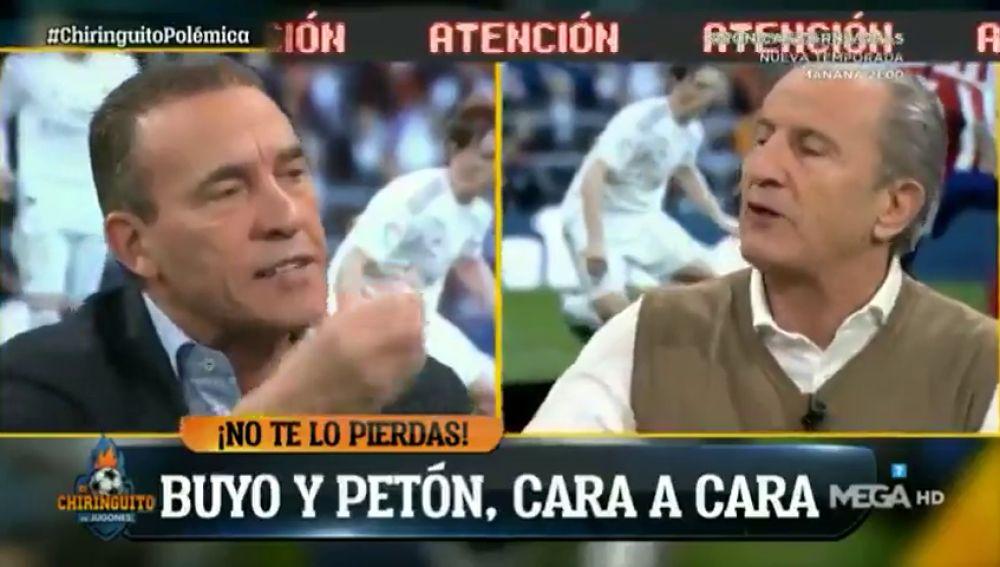 """Tenso cara a cara entre Buyo y Petón por los arbitrajes de los derbis: """"Si alguien tiene que quejarse, es el Real Madrid"""""""