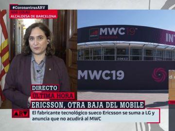 """Ada Colau, tras conocer que Ericsson no irá al Mobile por el coronavirus: """"Ojalá puedan reconsiderar su posición"""""""