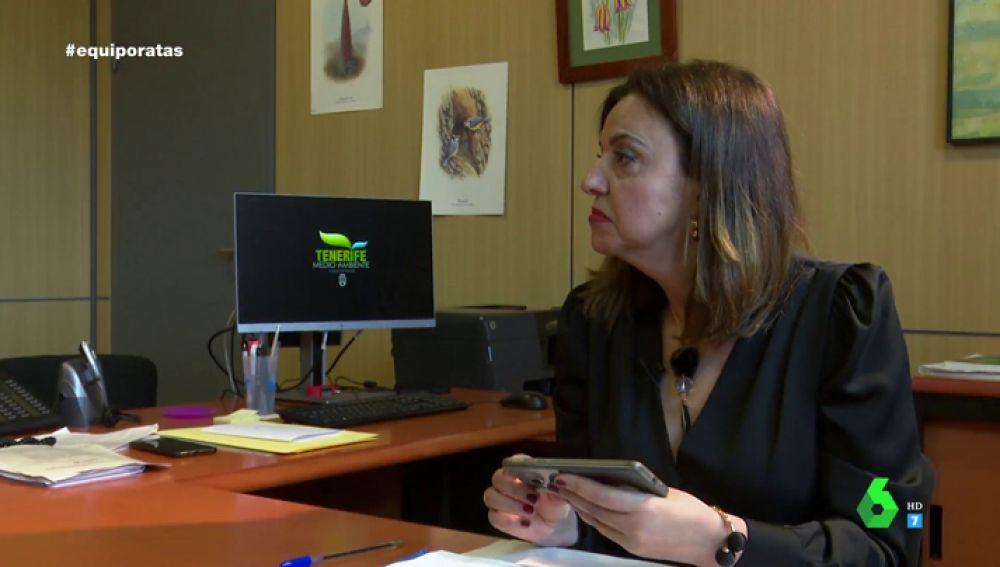 Isabel García Hernández, consejera de Medio Natural de Tenerife
