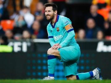 Leo Messi, durante un partido del Barça