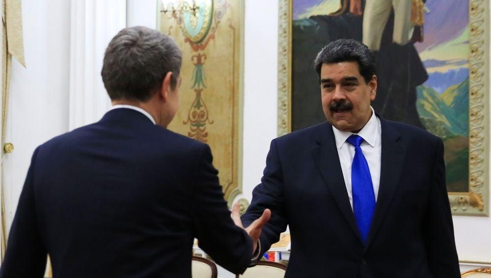 Imagen de Zapatero y Maduro en Venezuela