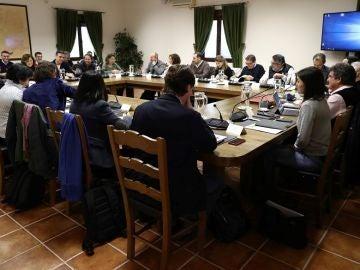 Imagen de la reunión de Sánchez con sus ministros en la finca toledana de Quintos de Mora