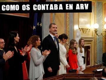 Imagen del aplauso al rey en el Congreso