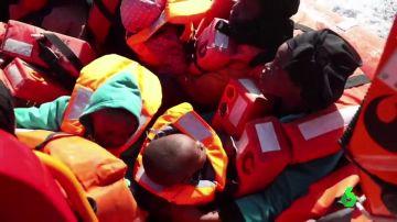 Personas rescatadas por el Aita Mari