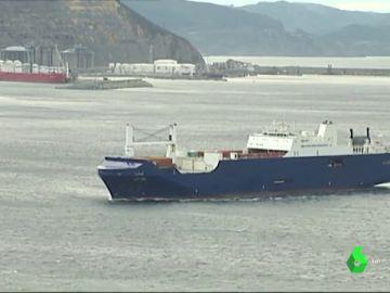Imagen del buque que ha atracado en Bilbao
