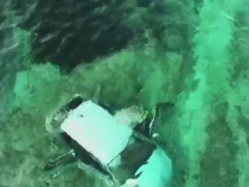 Vehículo sumergido en Palma de Mallorca