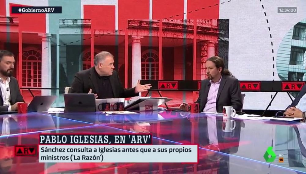 """Pablo Iglesias, sobre Pedro Sánchez: """"Cada uno tiene su rol y no caben líos"""""""