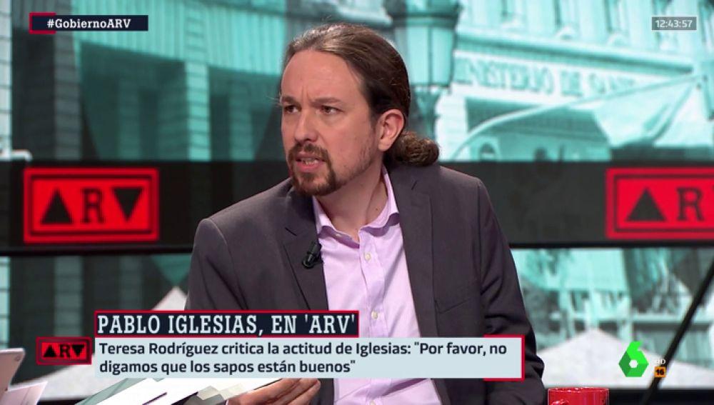 """Pablo Iglesias responde a las críticas de Teresa Rodríguez: """"Si no estás de acuerdo con la línea de un partido, no hay que estar a la fuerza"""""""