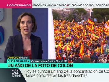"""Cuca Gamarra (PP) defiende España Suma: """"Cuando el centro-derecha está dividido gana la izquierda"""""""