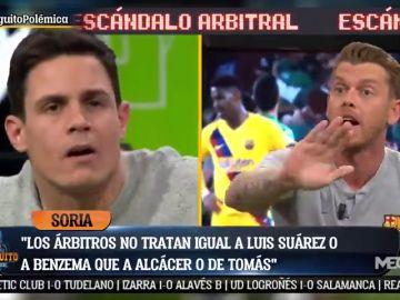 """Duro cara a cara entre Jota Jordi y Edu Aguirre: """"Os vamos a pintar la cara en el Bernabéu"""""""