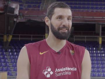 Nikola Mirotic, durante su entrevista
