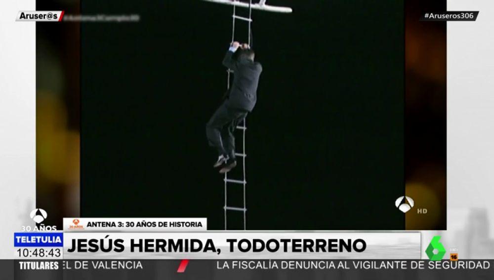 Jesús Hermida, todoterreno: Su llegada a Antena 3 en helicóptero y otros de sus grandes momentos