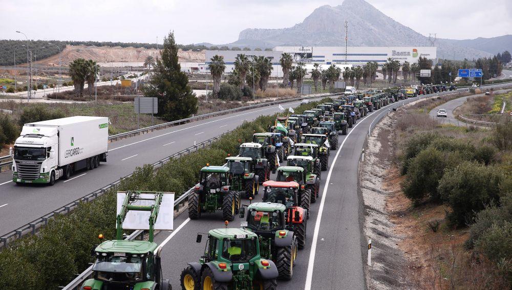 Tractorada en Málaga