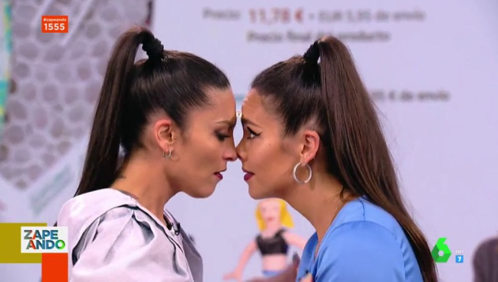 Cristina Pedroche y Lorena Castell se mimetizan en el juego más sexy de Zapeando
