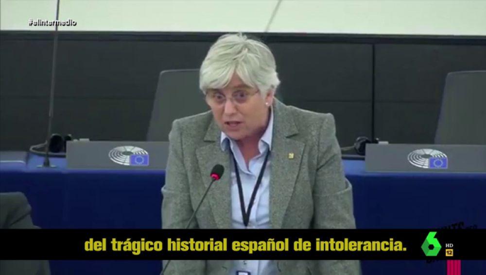 """El discurso de Clara Ponsatí en el Parlamento Europeo que """"logra mezclar a los Reyes Católicos con Hitler y los independentistas catalanes"""""""